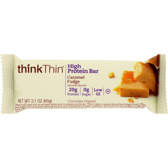 Think Thin High Protein Bar Caramel Fudge, 2.1 oz