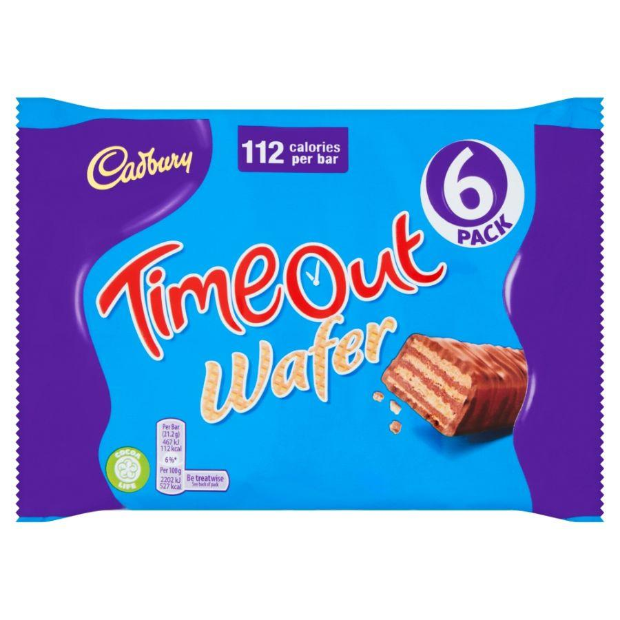 Cadbury Timeout Wafer, 6 Pk