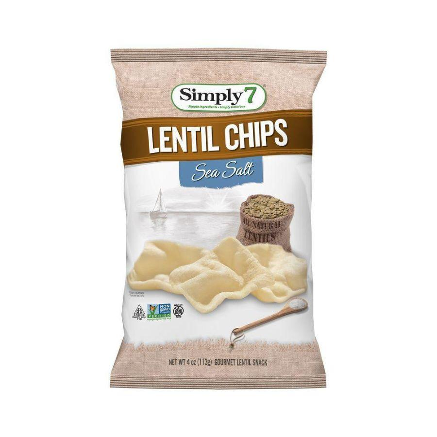 Simply 7 Gluten Free Lentil Chips Sea Salt, 113 g
