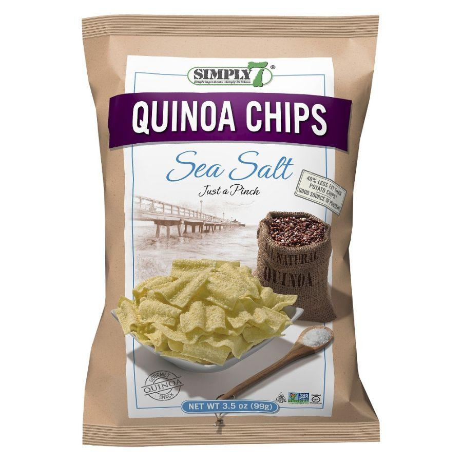 Simply 7 Gluten Free Quinoa Chips Sea Salt, 99 g