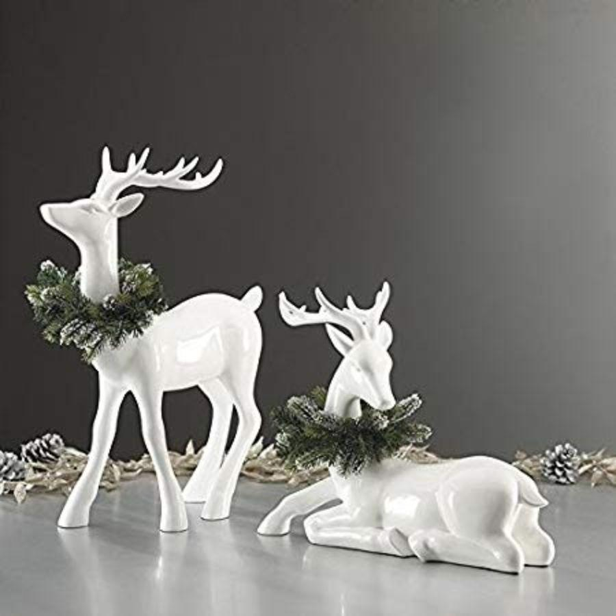 Decorative Deer Sitting & Standing 2 Pack