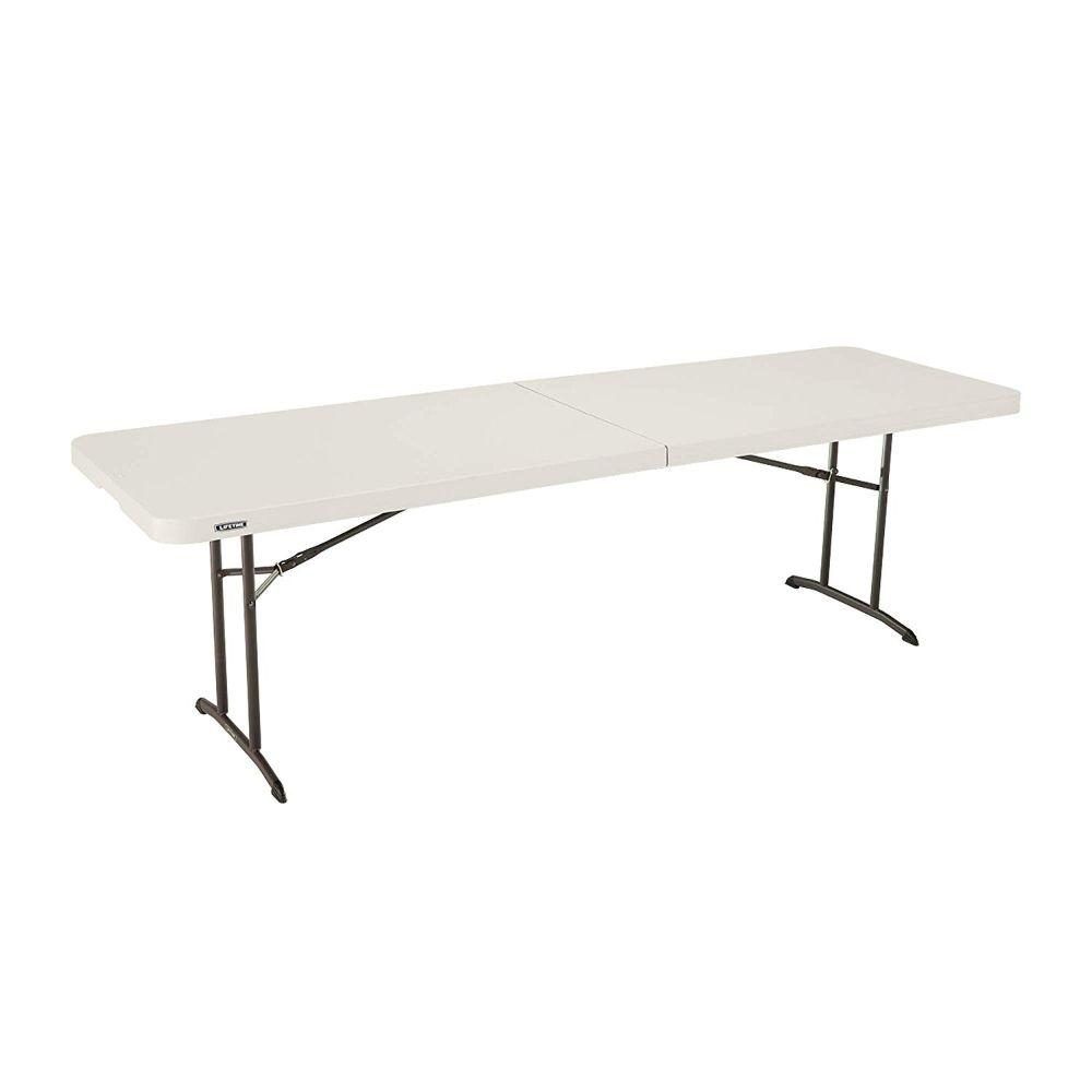 Lifetime, 8-Foot Fold-In-Half Table