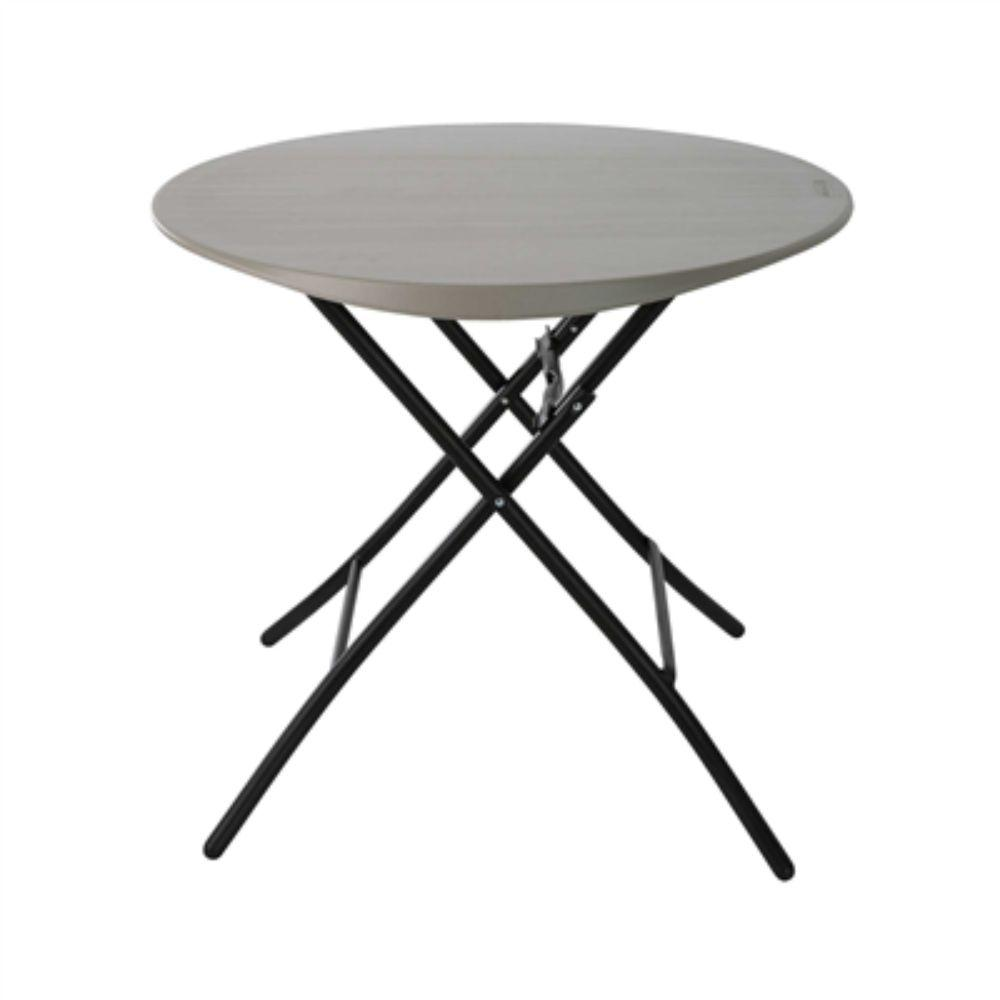 Lifetime, Round Table Folding 33'' Grey
