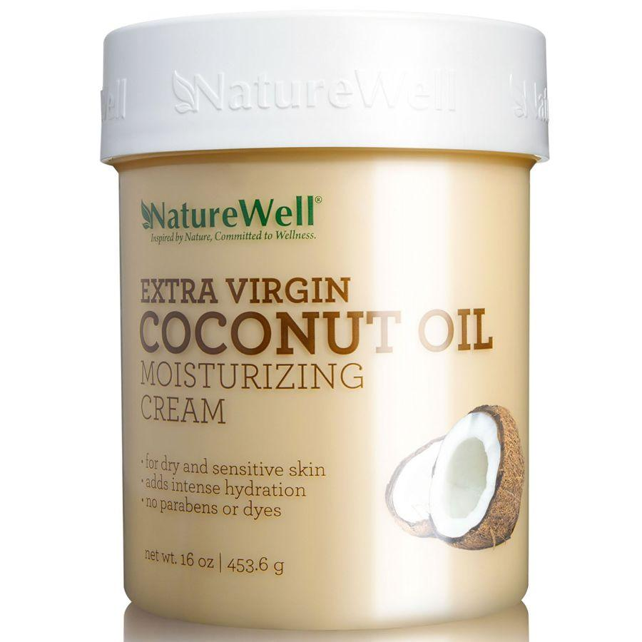 Nature Well Extra Virgin Coconut Oil Moisturizing Cream, 16 oz