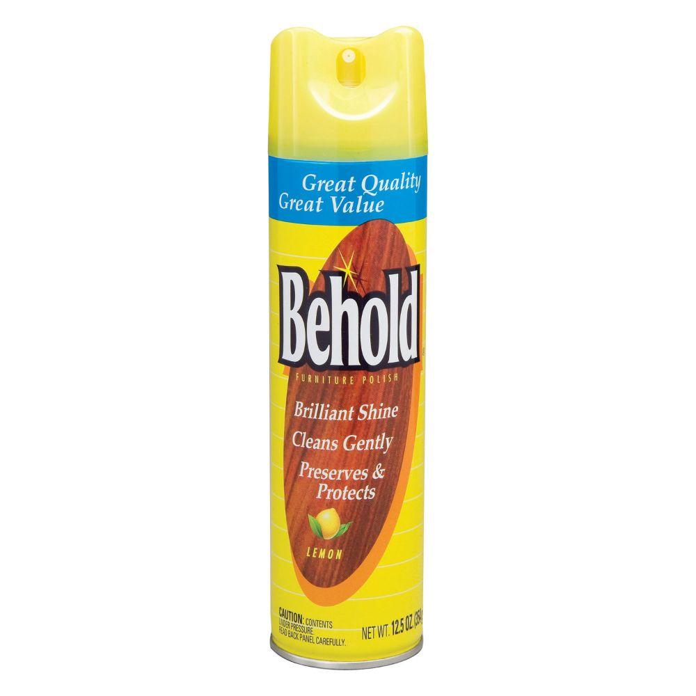 Behold, Furniture Polish Lemon, 12.5 oz
