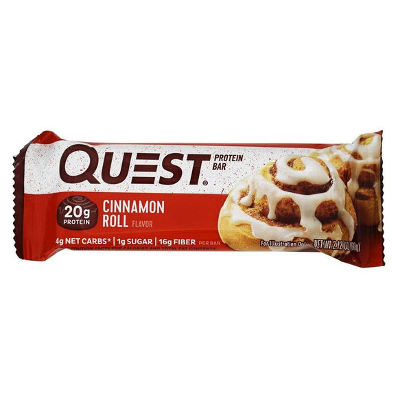 Quest Protein Bar Cinnamon Roll, 2.12 oz