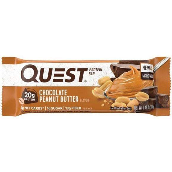 Quest Protein Bar Chocolate Peanut Butter, 2.12 oz