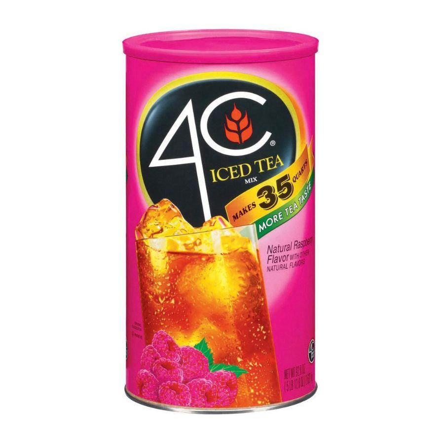 4C Iced Tea Mix Natural Raspberry Flavor, 87.9 oz
