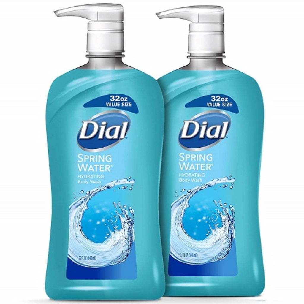 Dial, Spring Water Body Wash, 2 x 35 oz