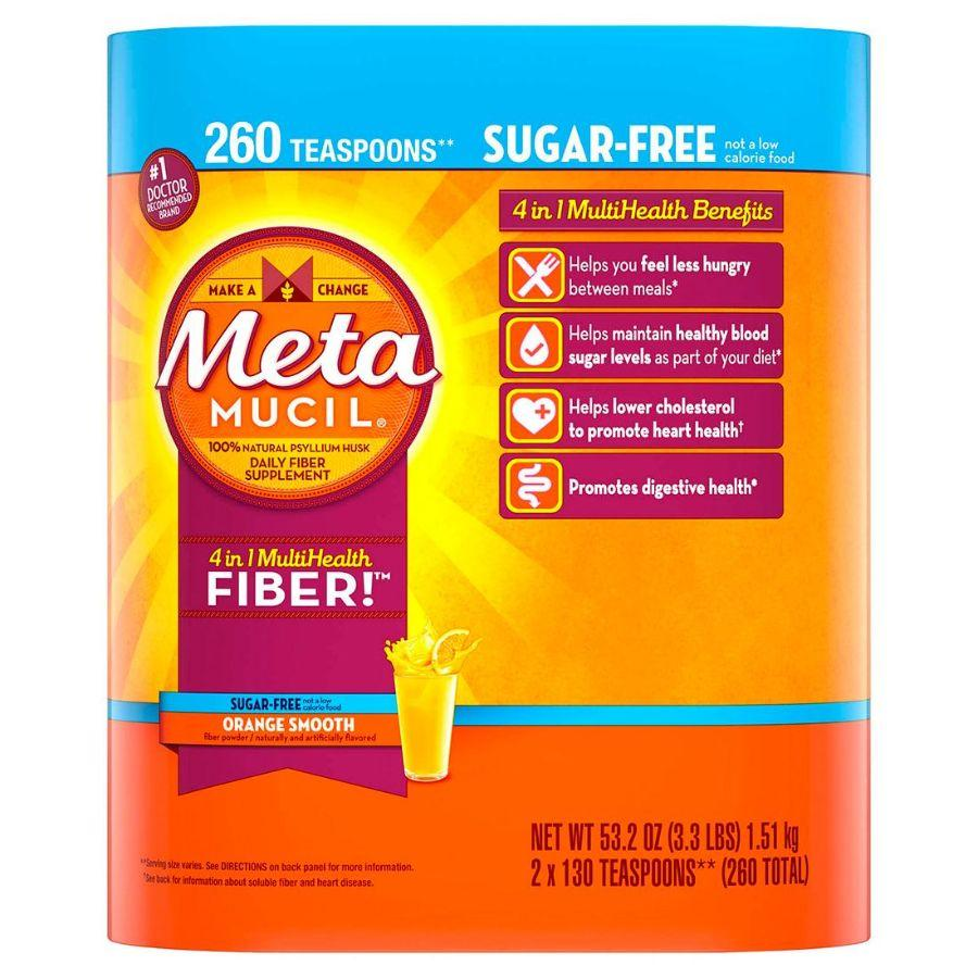 Metamucil 4 in 1 Multi Health Fiber Sugar Free, 2 Pk