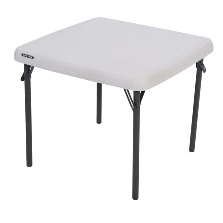 Lifetime Kids Square Folding Table White, 24 In  (USD)
