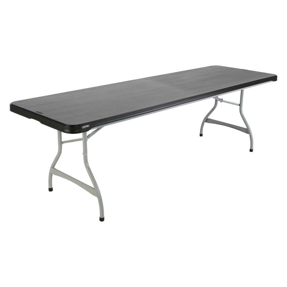 Lifetime, 8-Foot Heavy-Duty Grade Folding Table-Black