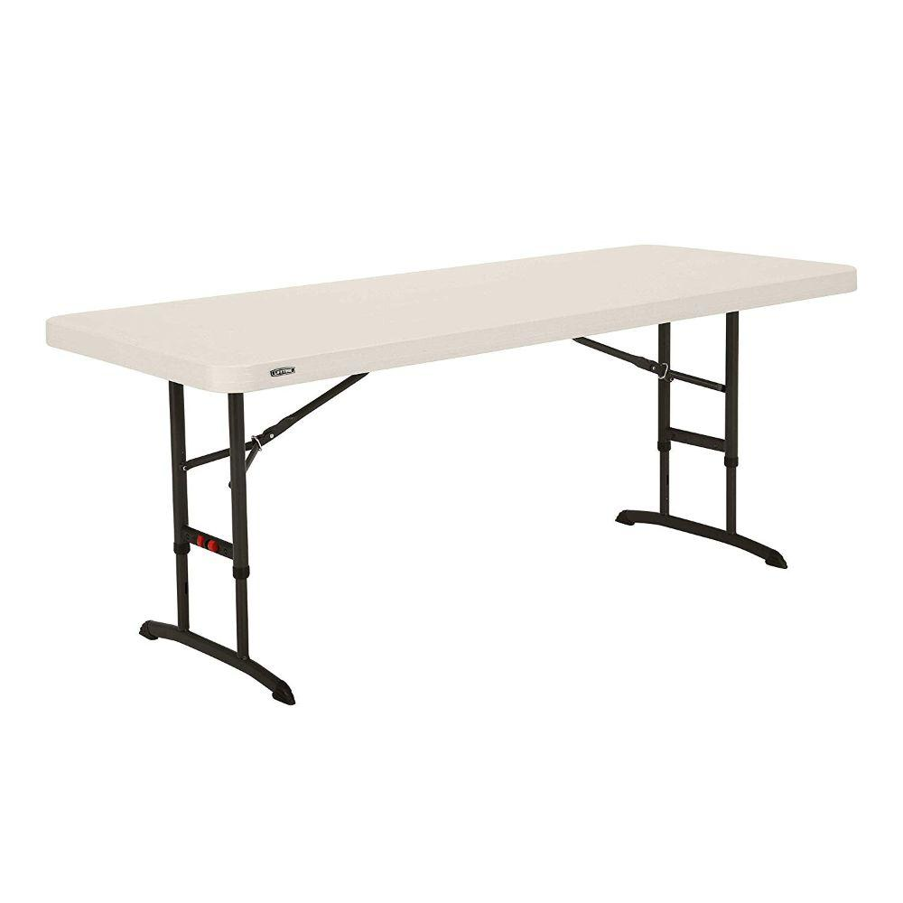 Lifetime, 6-foot Adjustable Table, Almond