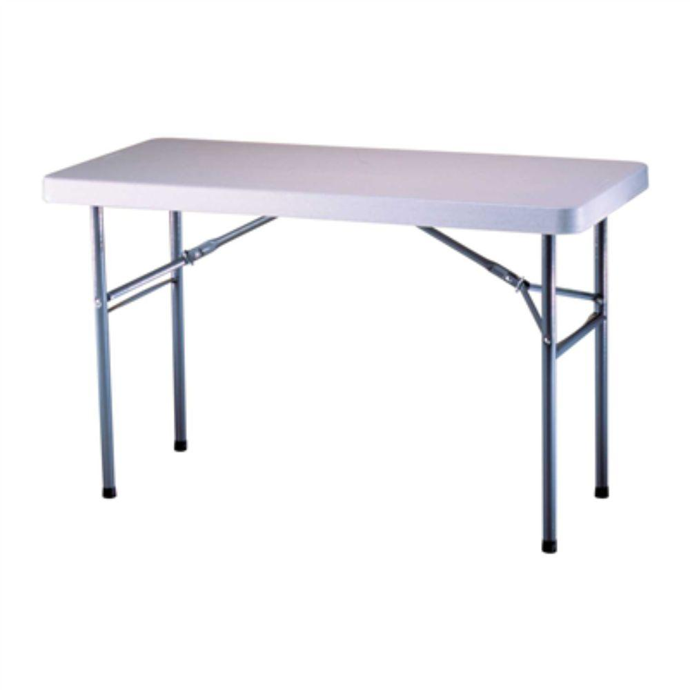 Lifetime, 4-Foot White Commercial Rectangle Folding Table