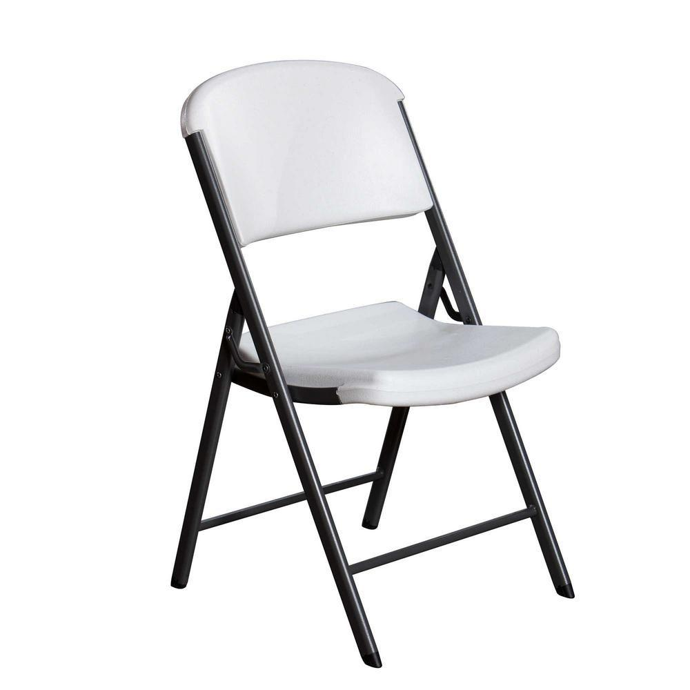 Lifetime, Folding Chair, White/Gray