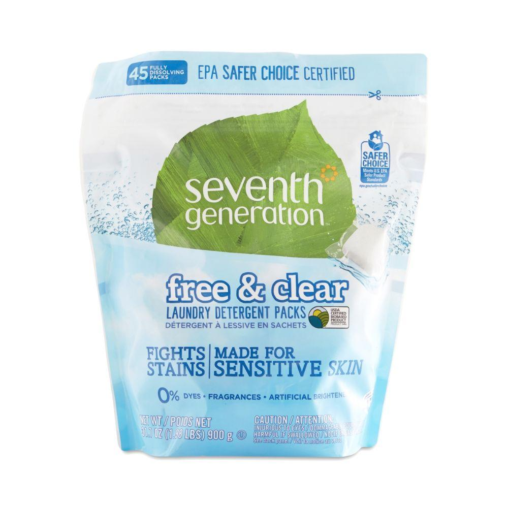 Seventh Generation, Natural Laundry Detergents Detergent Packs, 45 ct