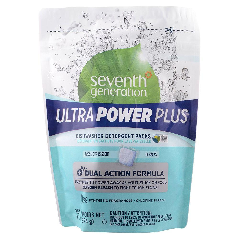 Seventh Generation, Dishwashinging Ultra Power Plus Fresh Citrus Scent, 18 ct
