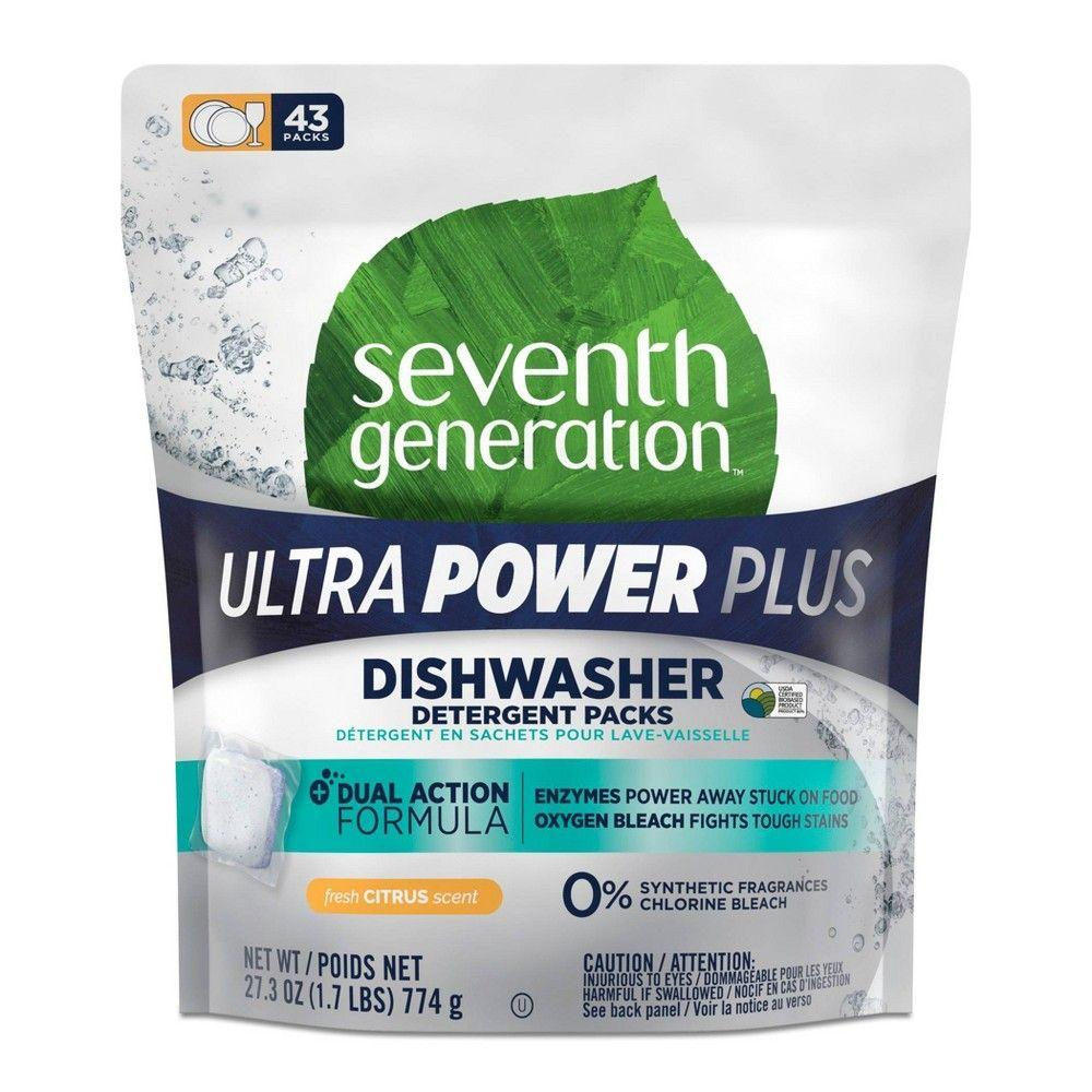 Seventh Generation, Dishwashinging Ultra Power Plus Fresh Citrus Scent, 43ct