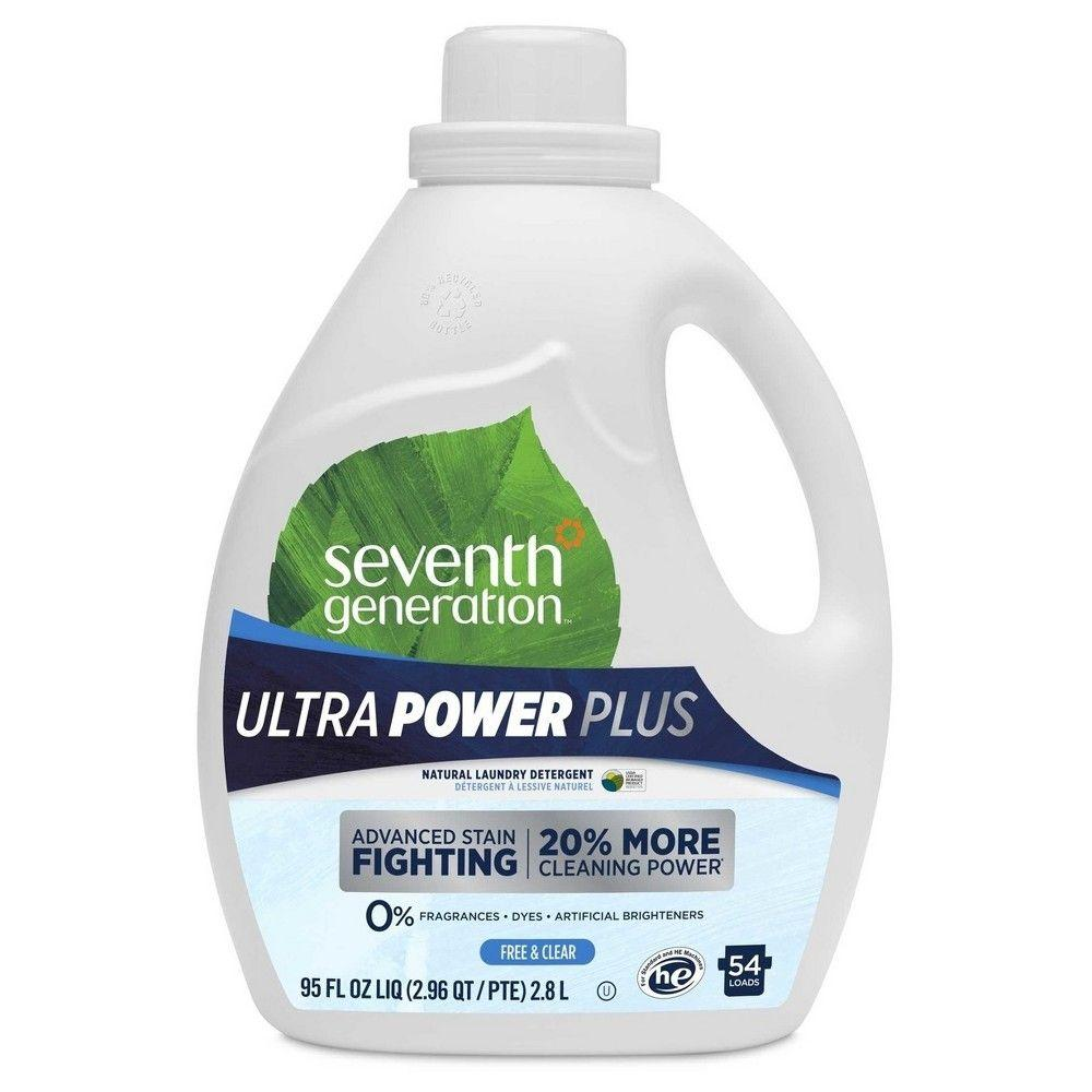 Seventh Generation, Ultra Power Plus Laundry Detergents Detergent Free & Clear, 95 oz