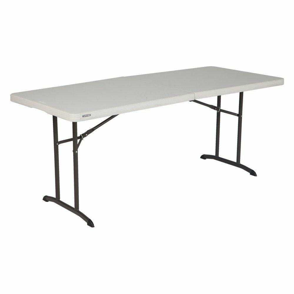 Lifetime, 6-Foot Fold-In-Half Table, Almond