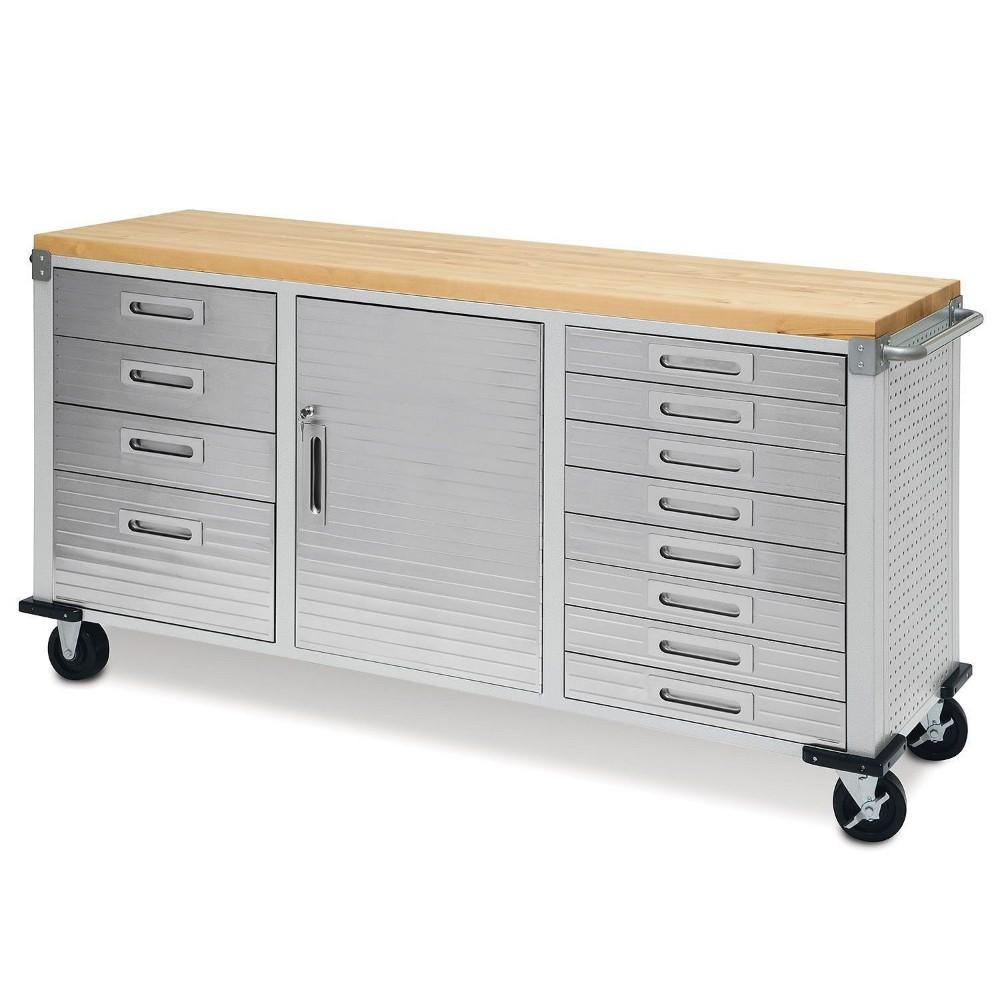 Seville Classics UltraHD Rolling Workbench 12 Drawers