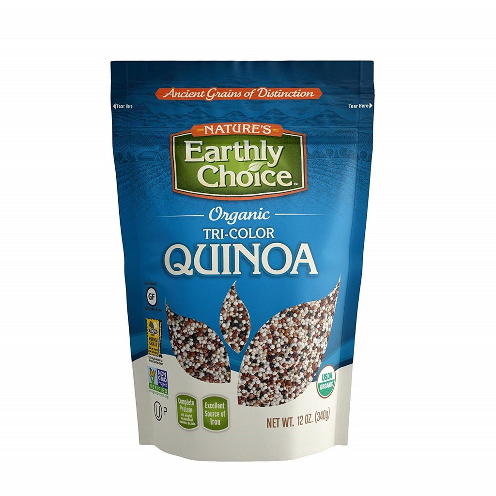 Nature's Earthly Choice, Organic Tri-Color Quinoa, 12 oz