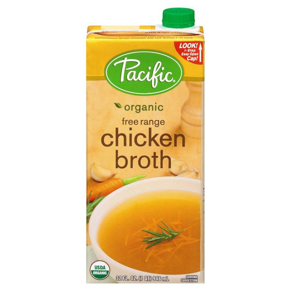 Pacific Organic Free Range Chicken Broth 32 oz
