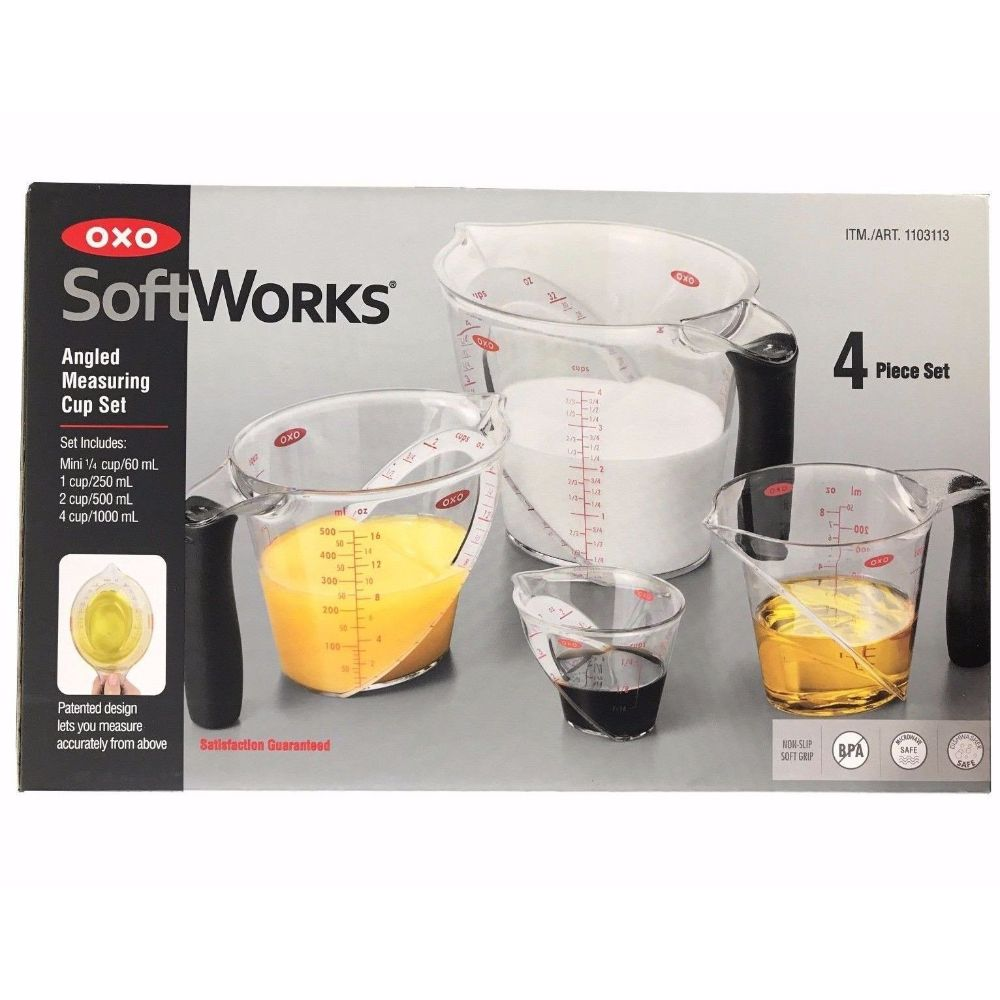Oxo, SoftWorks Angled Measuring Cup Set 4-pcs