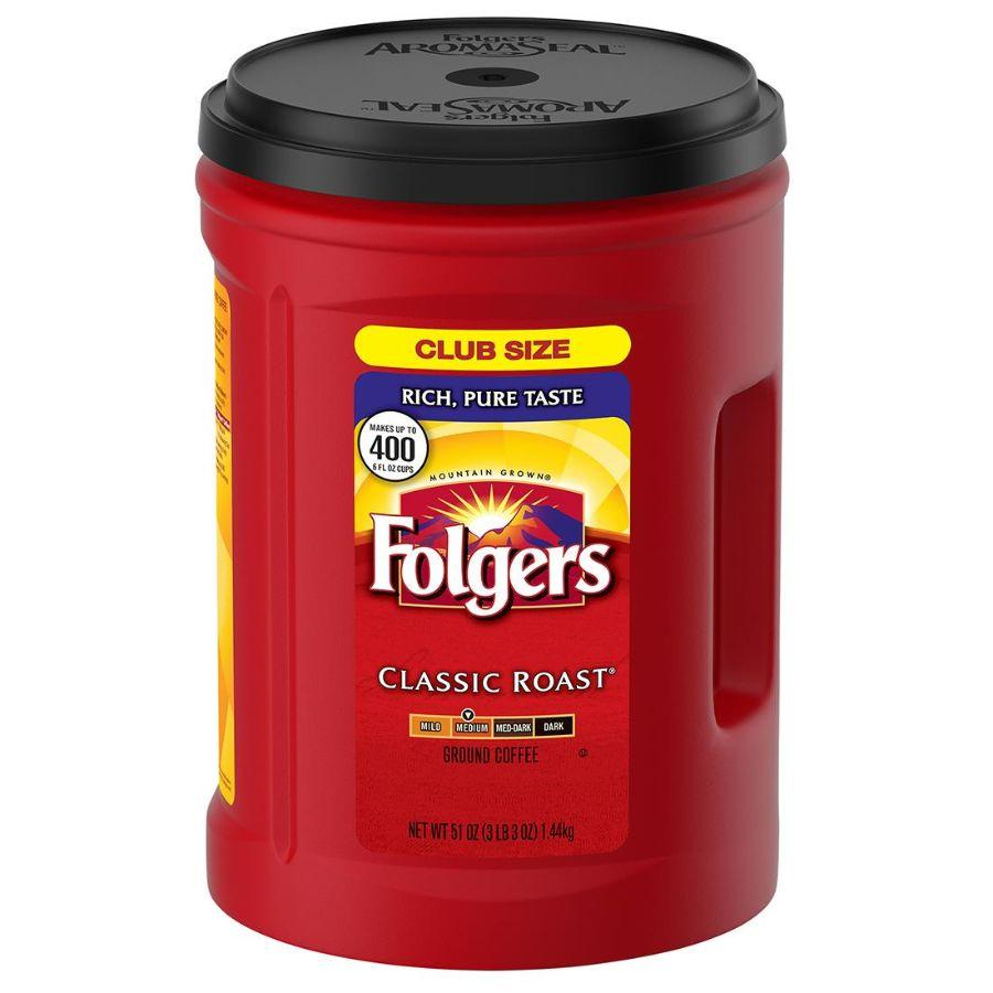 Folgers Classic Roast Ground Coffee, 51 oz