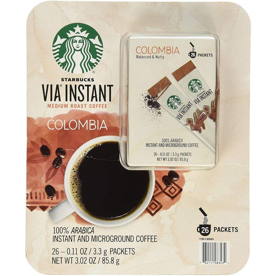 Starbucks Via Instant Medium Roast Colombia Coffee, 26 ct