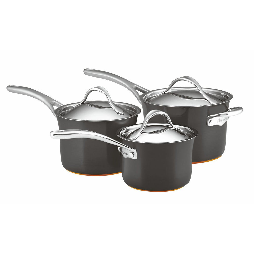 Anolon, Nouvelle Copper 3-Piece Saucepan Set