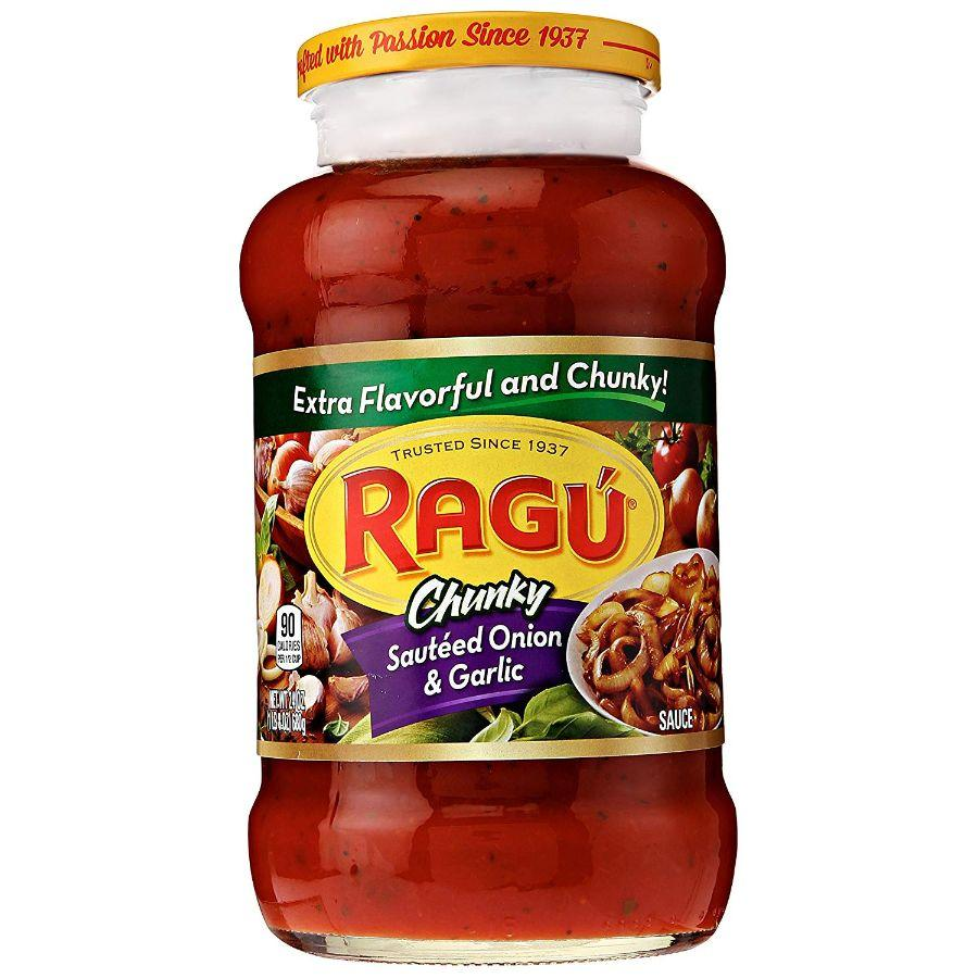 Ragu Chunky Sauteed Onion & Garlic, 24 oz