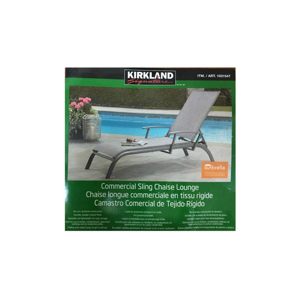 Kirkland Signature, Commercial Sling Chaise Loung