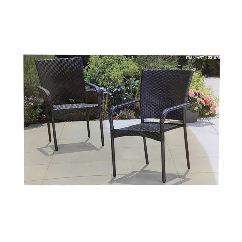 Lifetime Patio Woven Stackable Chairs 2 ct