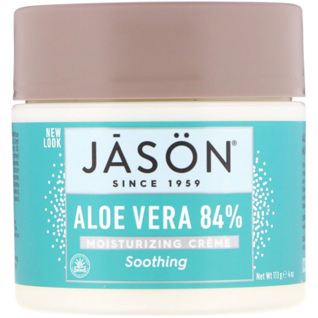 Jason, Aloe Vera 84% Moisturizing Cream, 4 oz