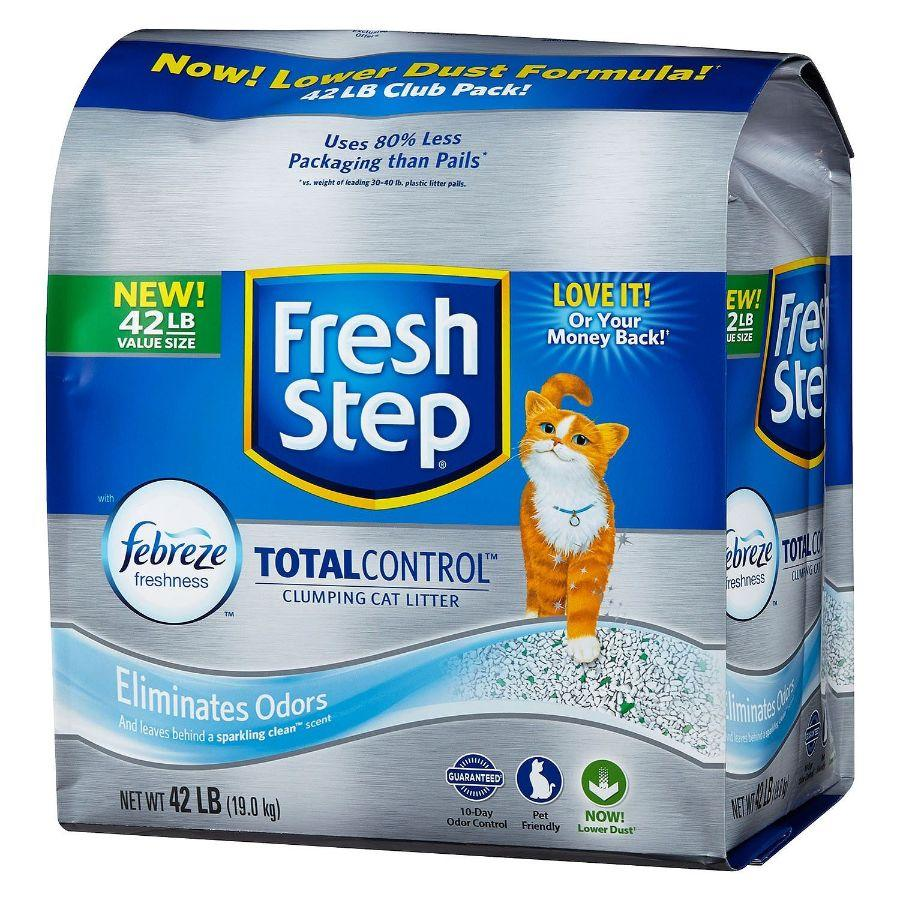 Fresh Step Total Control Cat Litter with Febreze, 42 lb