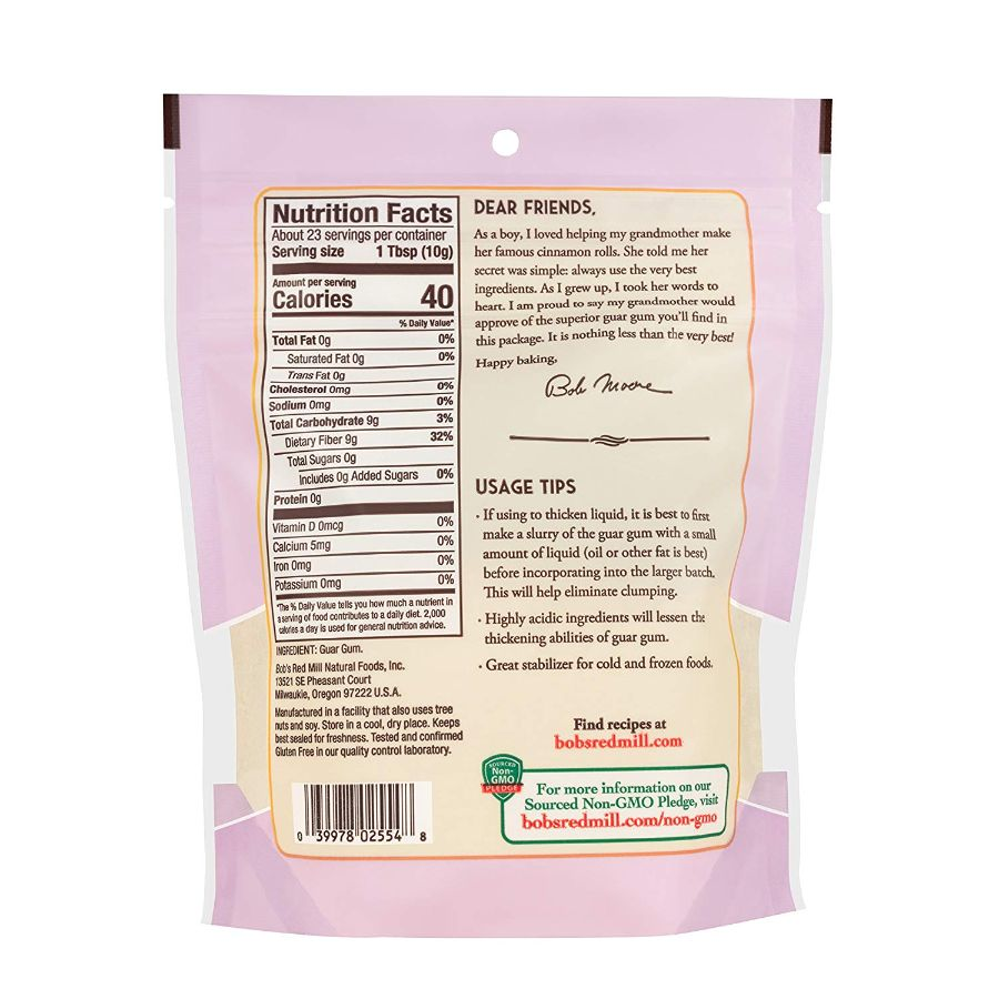 Bob's Red Mill Gluten Free Guar Gum, 8 oz