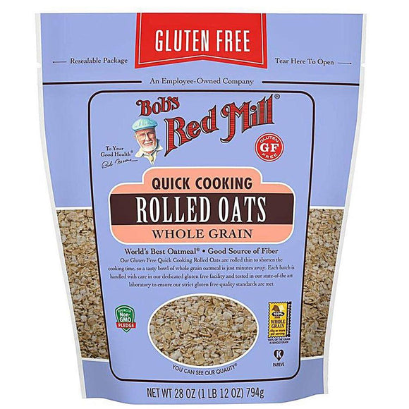 Bob's Red Mill Gluten Free Quick Cooking Rolled Oats, 28 oz
