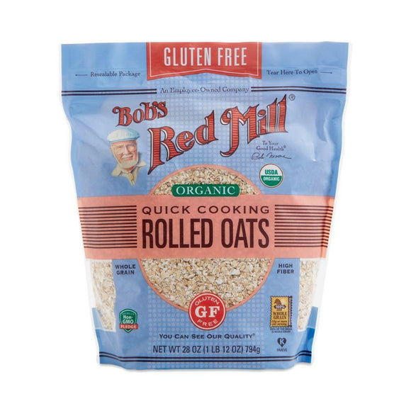 Bob's Red Mill Organic Gluten Free Quick Cooking Rolled Oats, 28 oz