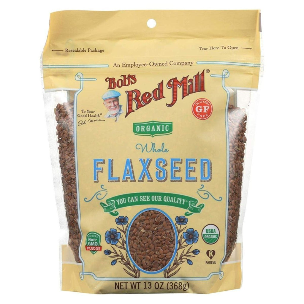 Bob's Red Mill, Organic Flaxseeds Brown, 13 oz