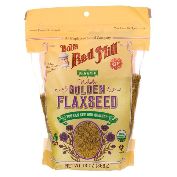 Bob's Red Mill Organic Gluten Free Golden Flaxseed, 13 oz