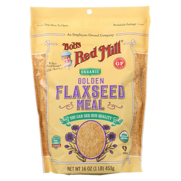 Bob's Red Mill Organic Gluten Free Golden Flaxseed Meal, 16 oz