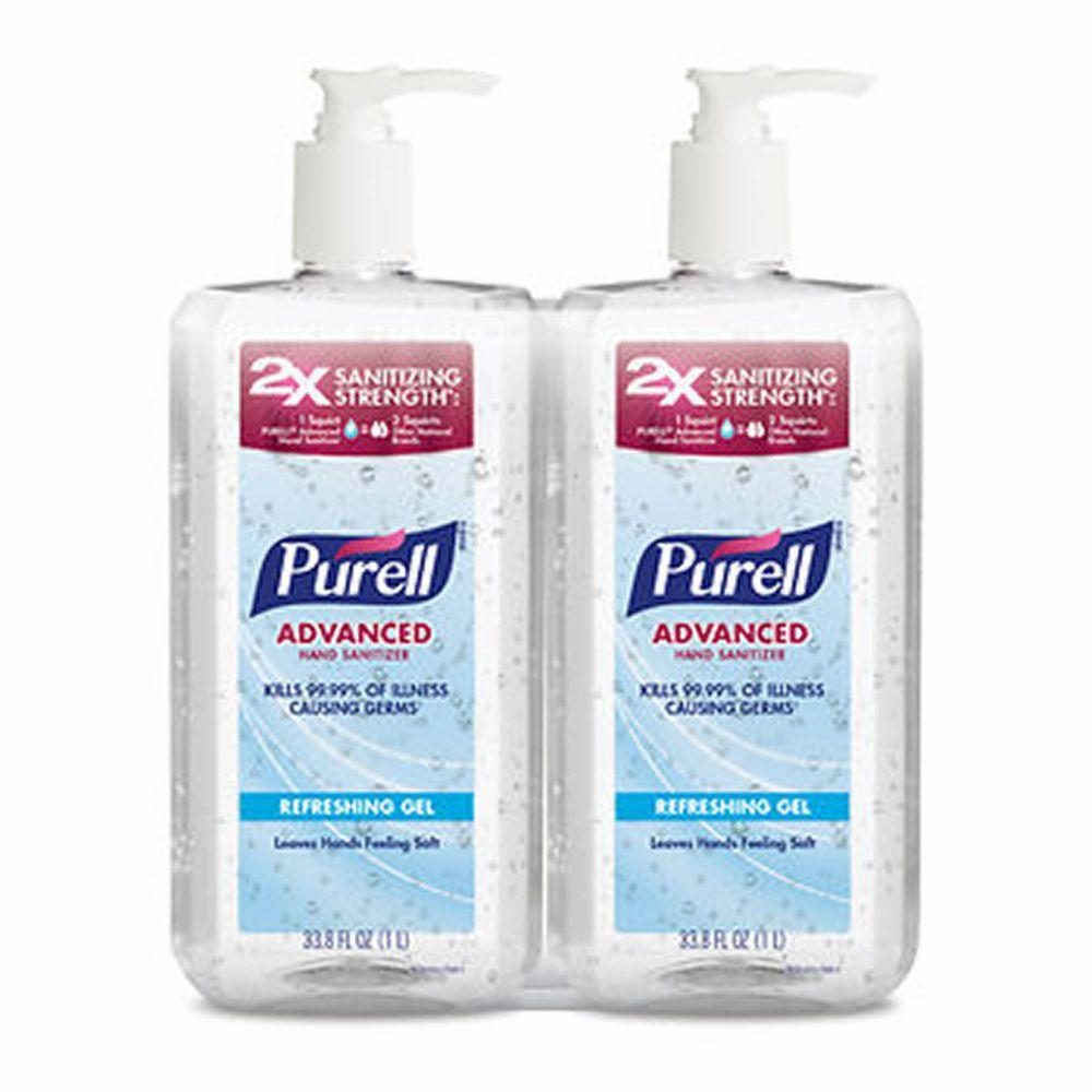 Purell Advanced Hand Sanitizer, 2x 1 L