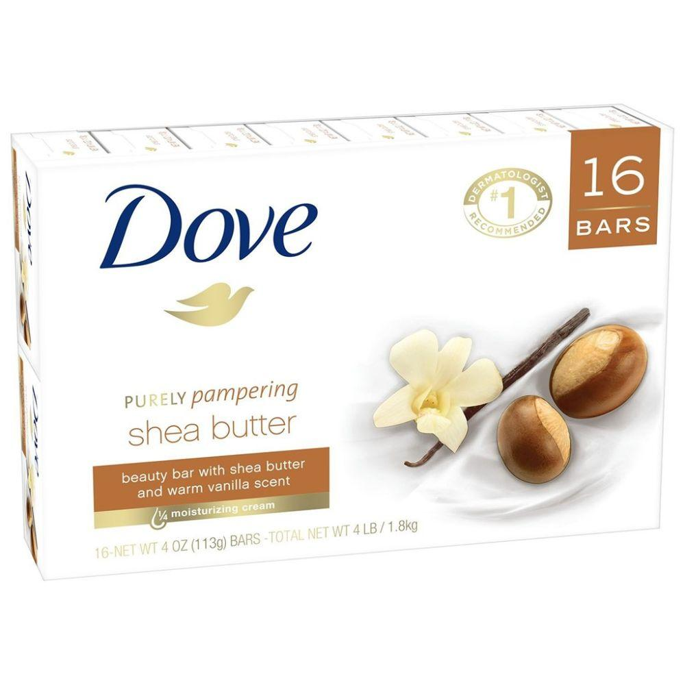 Dove, Purely Pampering Shea Butter soap Bar, 16x 4 oz