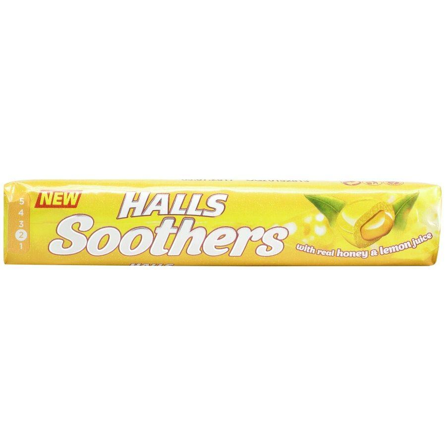 Halls Soothers with Real Honey & Lemon Juice, 45 g