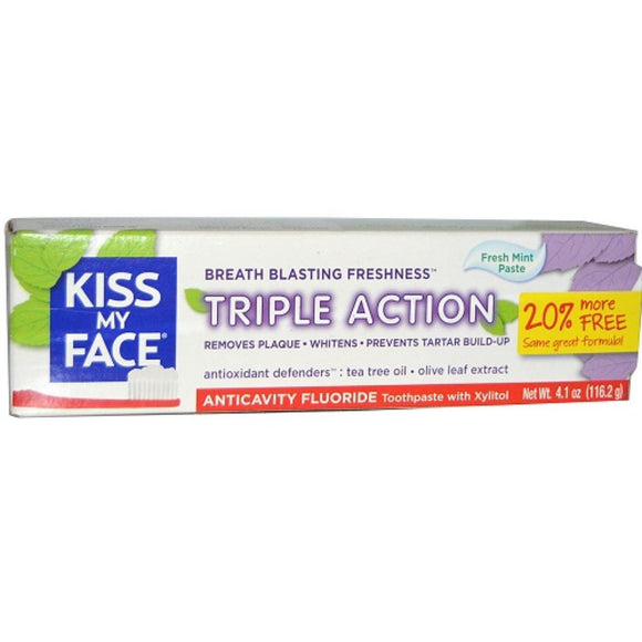 Kiss My Face, Triple Action Toothpaste, 4.1 oz