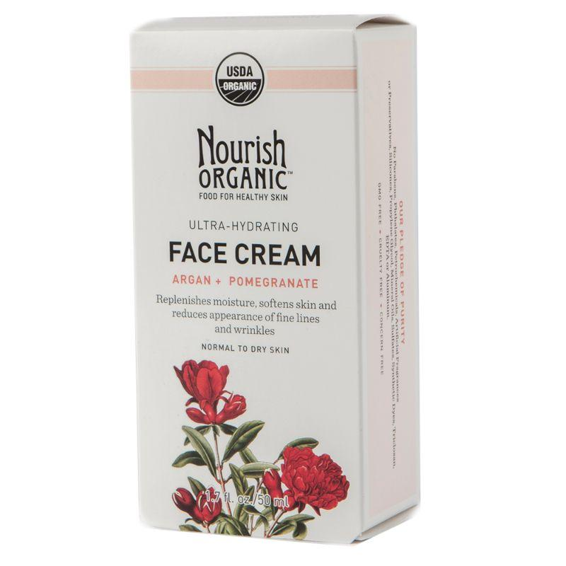 Nourish Organic Hydrating Face Cream Argan & Pomegranate, 1.7 oz