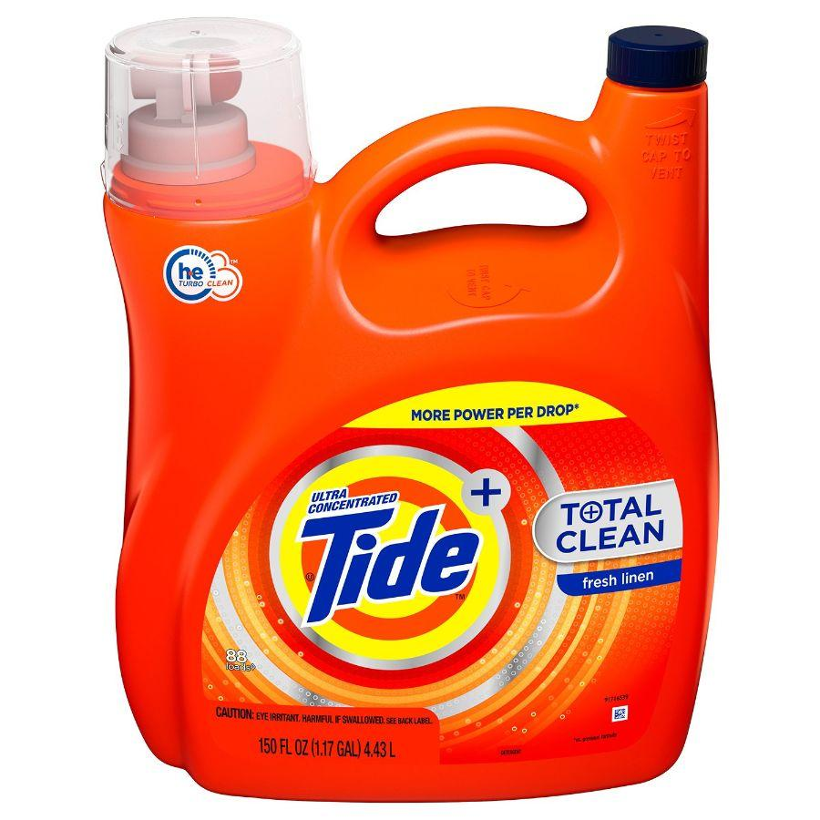 Tide Total Clean Laundry Detergent Fresh Linen, 150 oz