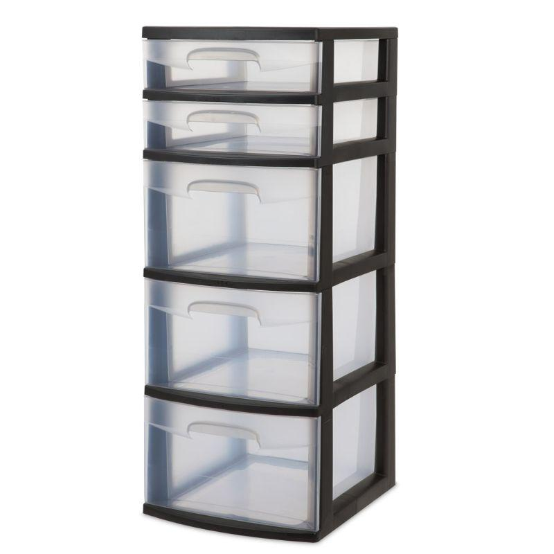 Sterilite 5 Drawer Tower 36.8cm x 32.1cm x 80.3cm
