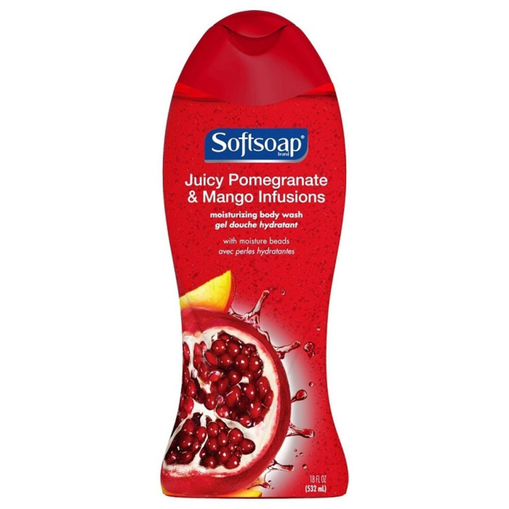 Softsoap, Juicy Pomegrante & Mango Infusions Body Wash, 18 oz